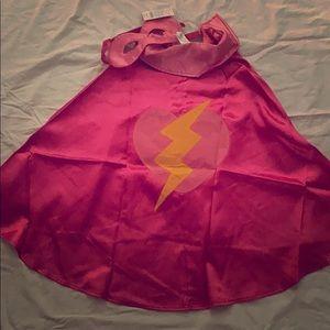 Gymboree Pink Super Hero Cape (Size 4-6) NWT